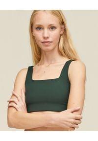 GIRLFRIEND COLLECTIVE - Zielony top Tommy Moss. Typ kołnierza: dekolt kwadratowy. Kolor: zielony. Materiał: poliester, tkanina, materiał