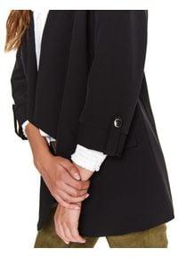TOP SECRET - żakiet damski luźny, z rękawem 3/4. Okazja: do pracy, na imprezę. Kolor: czarny. Styl: elegancki