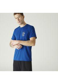 NYAMBA - Koszulka krótki rękaw fitness. Kolor: niebieski. Materiał: elastan, poliester, materiał, bawełna. Długość rękawa: krótki rękaw. Długość: krótkie. Sport: fitness