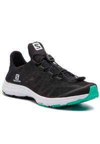 Czarne buty sportowe salomon z cholewką