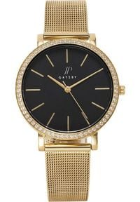 Zegarek Gatsby Damski złoty mesh z cyrkoniami (JPG1048). Kolor: złoty. Materiał: mesh