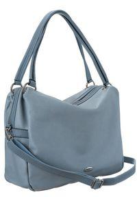 DAVID JONES - Shopper bag niebieski David Jones CM5665A PALG BLUE. Kolor: niebieski. Materiał: skórzane
