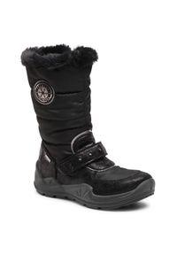 Czarne buty zimowe Primigi na spacer, z cholewką