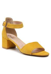 Żółte sandały Oleksy