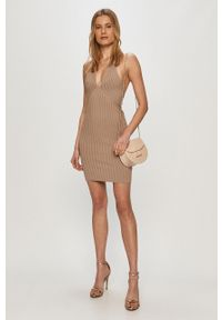 Sukienka Guess na ramiączkach, prosta, mini