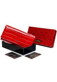 4U CAVALDI - Portfel damski czerwony Cavaldi PX28-CR-0635 RED. Kolor: czerwony. Materiał: skóra