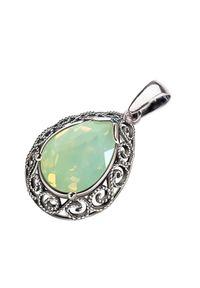 Polcarat Design - Wisiorek srebrny z kryształem Swarovski W 2087. Materiał: srebrne. Kolor: srebrny. Wzór: aplikacja. Kamień szlachetny: kryształ