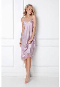 Fioletowa piżama Aruelle gładkie