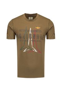 Aeronautica Militare - T-shirt AERONAUTICA MILITARE. Materiał: bawełna, elastan. Wzór: aplikacja, nadruk