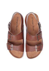 Brązowe sandały Sergio Bardi casualowe, na co dzień, na lato
