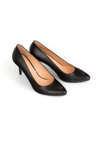 Czarne czółenka Zapato klasyczne, do pracy