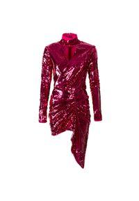 Sukienka Pinko asymetryczna, z długim rękawem