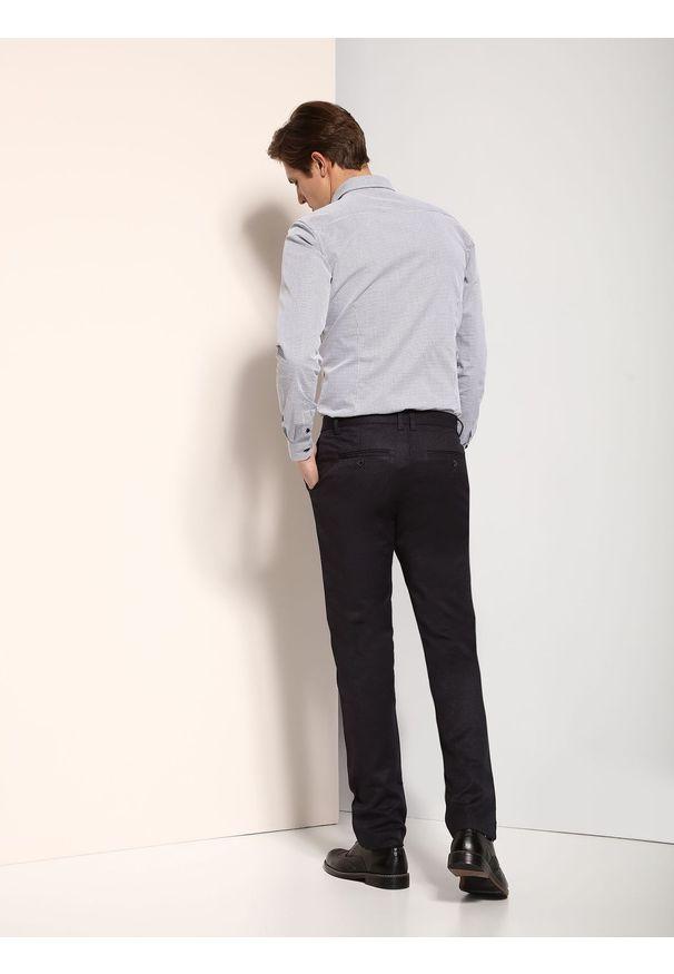 Szare spodnie TOP SECRET na lato, klasyczne, długie