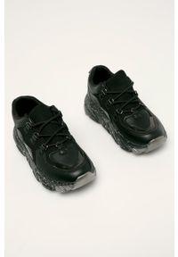 Czarne buty sportowe ANSWEAR z cholewką, na sznurówki