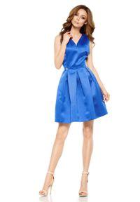 Niebieska sukienka rozkloszowana Lemoniade wizytowa
