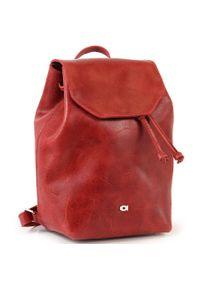 Czerwony plecak DAAG casualowy