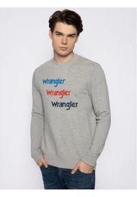 Wrangler Bluza Seasonal Logo W6A5HAX37 Szary Regular Fit. Kolor: szary