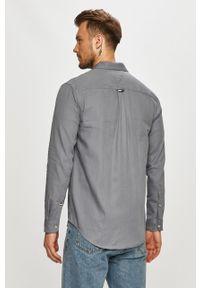 Szara koszula Tommy Jeans długa, z długim rękawem, klasyczna