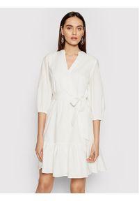 Biała sukienka DKNY casualowa, prosta, na co dzień