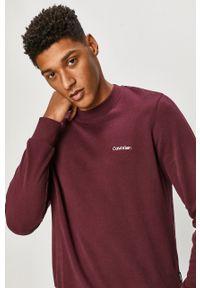 Fioletowa bluza nierozpinana Calvin Klein casualowa, na co dzień, bez kaptura