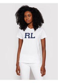 Polo Ralph Lauren T-Shirt Ssl 211800248006 Biały Regular Fit. Typ kołnierza: polo. Kolor: biały