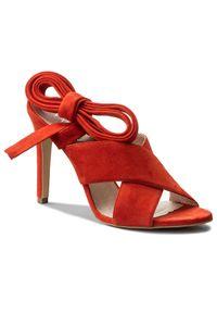 Czerwone sandały Eva Minge eleganckie