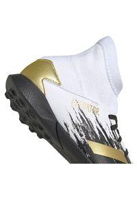 Adidas - Buty piłkarskie dla dzieci adidas Predator 20.3 TF Jr FW9220. Zapięcie: sznurówki. Materiał: syntetyk, materiał. Szerokość cholewki: normalna. Wzór: nadruk. Sport: piłka nożna