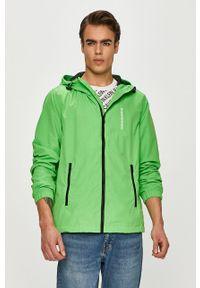 Zielona kurtka Calvin Klein Jeans casualowa, z kapturem