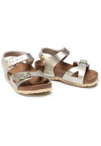 Złote sandały Birkenstock