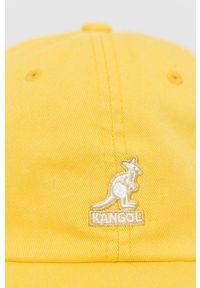 Kangol - Czapka. Kolor: żółty