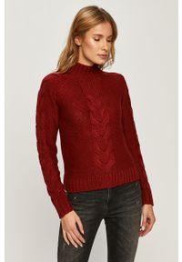 Brązowy sweter Pepe Jeans casualowy, na co dzień