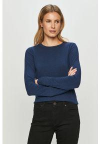Niebieska bluzka z długim rękawem GAP na co dzień, casualowa
