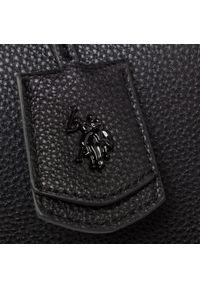 Czarna listonoszka U.S. Polo Assn z aplikacjami, zdobiona