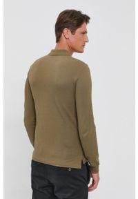 Polo Ralph Lauren - Longsleeve bawełniany. Okazja: na co dzień. Typ kołnierza: polo. Kolor: zielony. Materiał: bawełna. Długość rękawa: długi rękaw. Styl: casual
