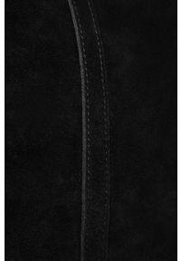 Czarna shopperka Answear Lab duża, wakacyjna, zamszowa, na ramię