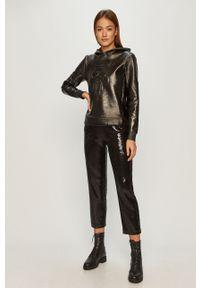 Czarna bluza Karl Lagerfeld z aplikacjami, z kapturem, klasyczna