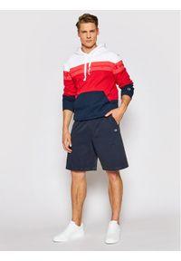 Champion Bluza Ombre Stripe Terry Hoodie 215946 Czerwony Comfort Fit. Kolor: czerwony
