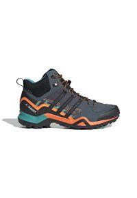 Niebieskie sneakersy Adidas Adidas Terrex, na sznurówki, z cholewką