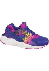 Fioletowe buty sportowe Nike z nadrukiem, z cholewką