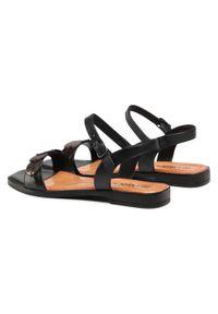 Czarne sandały Lasocki casualowe, na średnim obcasie, z aplikacjami