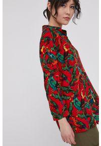 medicine - Medicine - Koszula Tropical Chaos. Kolor: czerwony. Materiał: tkanina. Długość rękawa: krótki rękaw. Długość: krótkie