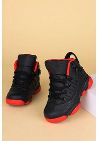 Casu - Czarne buty sportowe sznurowane casu 201d/br. Kolor: czarny