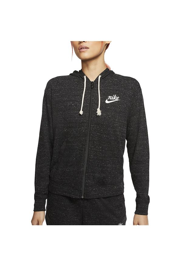 Szara bluza Nike vintage, z kapturem
