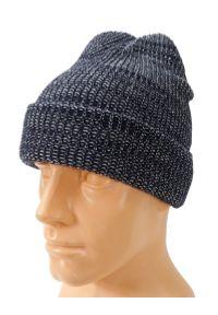 Niebieska czapka Pako Jeans melanż, na zimę