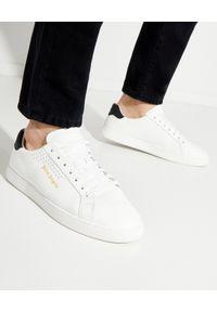 PALM ANGELS - Białe sneakersy z logo. Kolor: biały. Wzór: aplikacja. Obcas: na płaskiej podeszwie