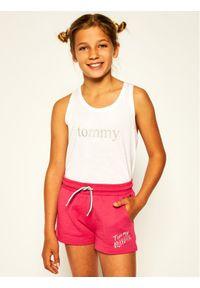 Różowe spodenki sportowe TOMMY HILFIGER