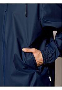 Rains Kurtka przeciwdeszczowa Unisex 1837 Granatowy Relaxed Fit. Kolor: niebieski