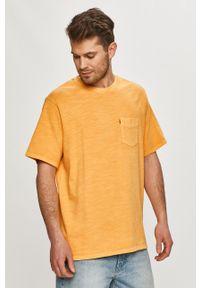 Levi's® - Levi's - T-shirt. Okazja: na spotkanie biznesowe. Kolor: pomarańczowy. Materiał: dzianina. Wzór: gładki. Styl: biznesowy