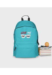 MegaKoszulki - Plecak szkolny Give Me Friday - plecak niebieski. Kolor: niebieski