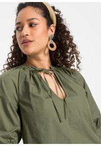 Bluzka bonprix oliwkowy. Kolor: zielony